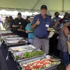 Turf Field Day 2021: A great continental breakfast and hearty cookout lunch was enjoyed by all.