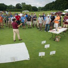 Turf Physiologist Dr. Michelle DaCosta provides insight on research into different turf cover systems at the Joseph Troll Turf Research Center