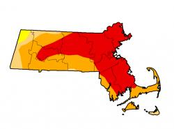 MA Drought Map for 9-16-16