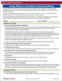 Energy Efficiency Checklist for Municipal Buildings
