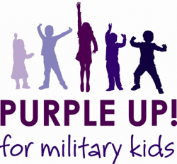 Purple Up! for military kids logo