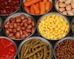 Buying canned fruits and vegetables
