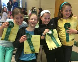 Newton 4-H club: Visual Presentation Awards: Jennifer Buras, Katharine Axon, Daisy Proskauer, Elena Morris Kelly
