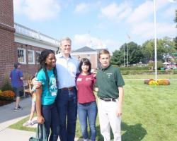 Big E delegates and Governor Baker
