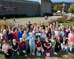 Former and current Extension Faculty and staff gather