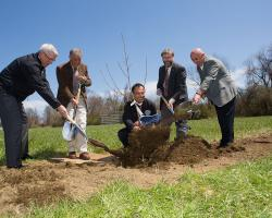 Officials Break Ground for Agricultural Learning Center