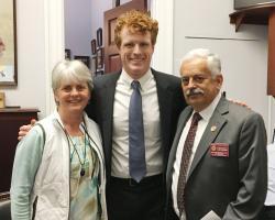 Congressman Joe Kennedy with Sonia Schloemann and Ken Nicewicz at recent CARET meetings in Washington, DC.