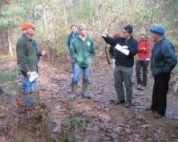 Paul Catanzaro teaching Keystone Cooperators in Harvard Forest
