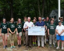MDAR Commissioner John Lebeaux Presenting Check to Middlesex 4-H Fair
