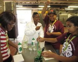 picture of youth and instructor at Science Camp