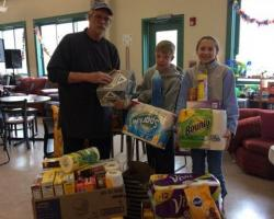 Members donate needed supplies to Dr. Mertz at the New England Wildlife Hospital