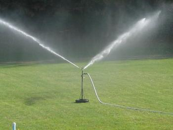 Figure 7. Irrigate judiciously to promote optimum turf health and protect water resources.