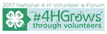 2017 National 4-H Volunteer e-Forum