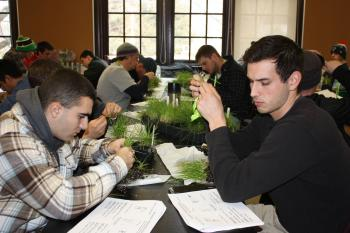 Winter School students during a lab exercise.