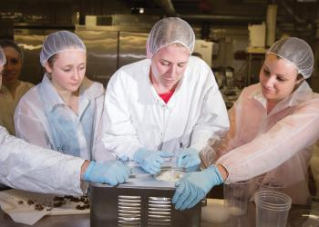 Students at UMass Food Science Department create new ice cream flavor for annual competition. The winning flavor is produced and sold by neighboring Maple Valley Creamery.
