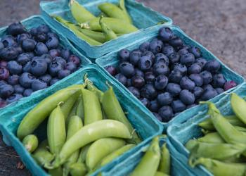 blueberries and peas
