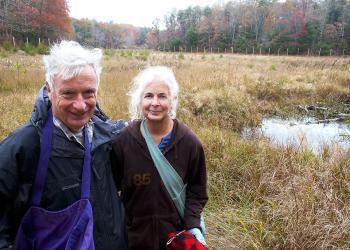 Evan Schulman and Glorianna Davenport at Tidwell Farm