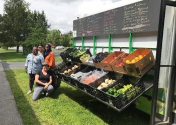 Mobile Market set up at a Springfield mosque