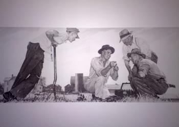 Norman Rockwell painting of Extension agents