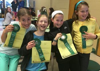Newton 4-H club: Visual Presentation Awards: Jennifer Buras, Katharine Axon, Daisy Proskauer, Elena Morris Kelly