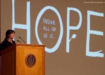 Kathleen Draper addresses Biochar Conference