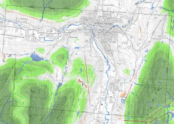 Map of North Adams depicting areas of potential high ecological integrity