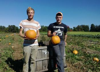 UMass Students Neev Blume and Cole Lanier lead tour of SFE