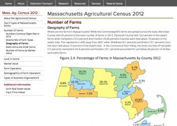 Screen shot of census web page