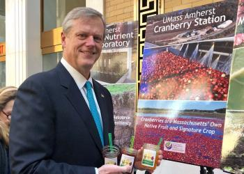 Governor Baker stopped by the UMass Extension booth at Ag Day in the Statehouse.