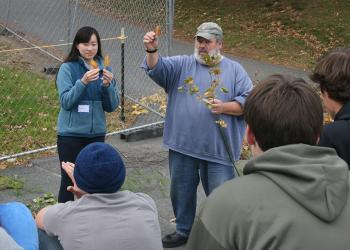 Forester Joe Perry runs tree identification workshop