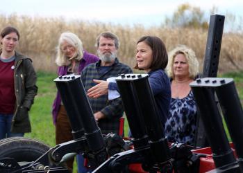 UMass Extension educators teach attendees about soil health
