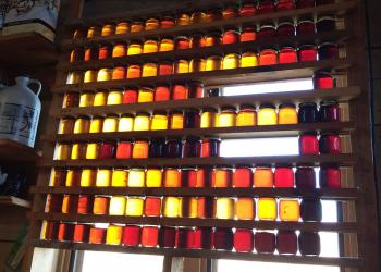 Maple syrup- colors and grades on shelves