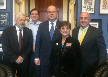 UMass representatives visit Congressman McGovern in Washington DC