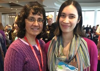 Mary Ratnaswamy and Melissa Ocana accept 2017 Climate Adaptation Leadership Award