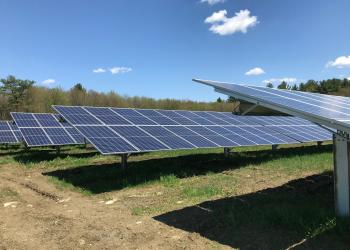 ground-mounted solar panels