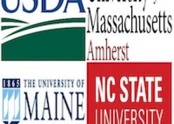 USDA, UMass, UMaine, NC State Logos
