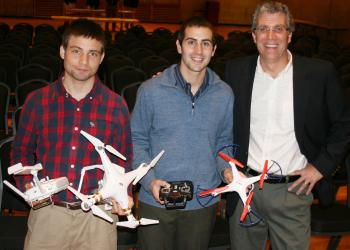 UAVs demonstrated by Professor Charles Schweik and graduate students, Ryan Wicks and Seth Englebourg