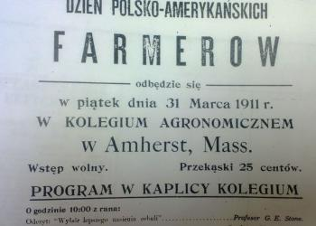 """This poster advertised the first Polish language """"Farmers' Day,"""" held in 1911."""