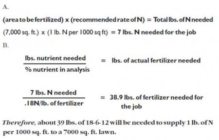 Grow & Green fertilizer calculation