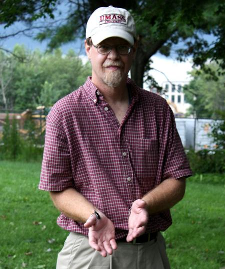 Bob Childs with Asian Longhorned Beetle