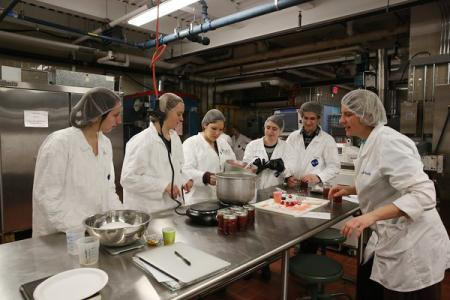 Jam making class, University of Massachusetts Amherst, 2017