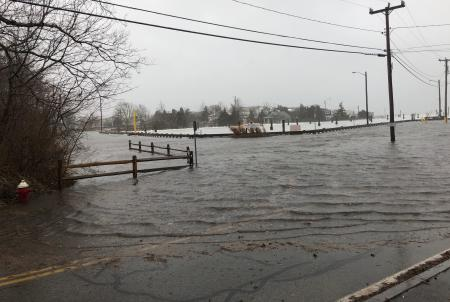 Street flooding in Barnstable County