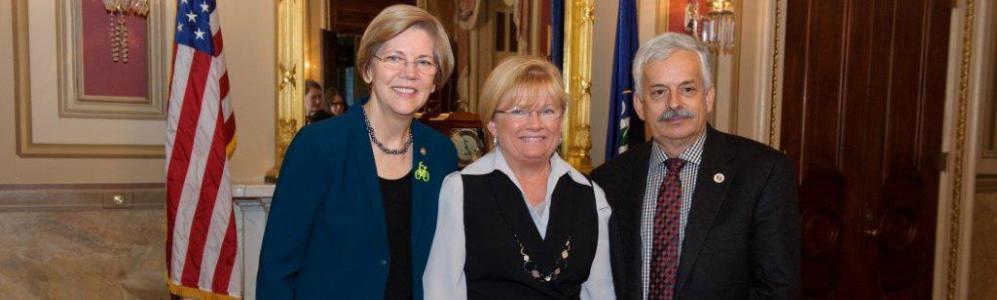 Senator Elizabeth Warren, Kathleen Carroll, Ken Niecwicz