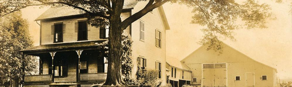 Wysocki house in the early 1920's. Large maple came down in the 1938 hurricane.