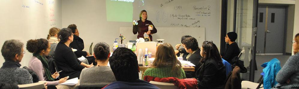Amanda Kinchla, UMass Assistant Extension Professor of Food Science, recently taught courses at two commercial food processing facilities in Dorchester and Greenfield