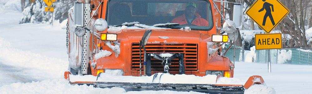 Snow plows being monitored for gas useage during winter use