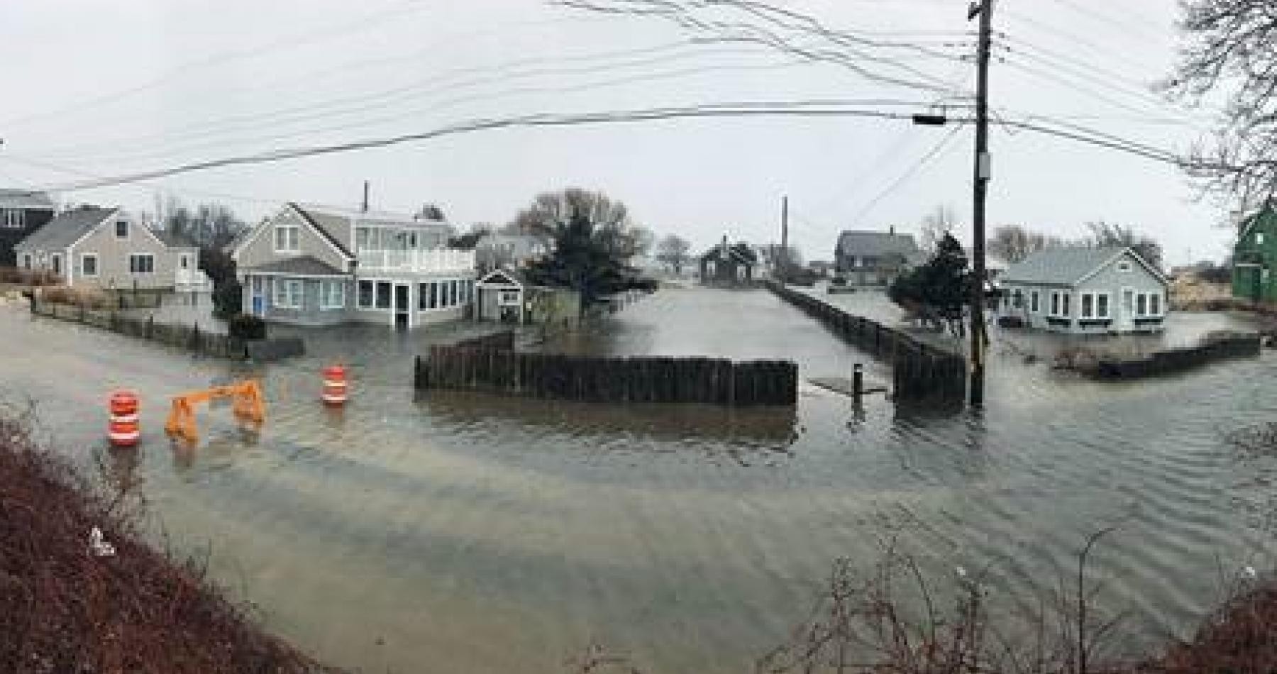 Street flooding in Dennis after 2018 storm. Photo credit: Rebecca Westgate
