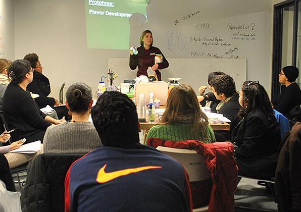 Amanda Kinchla teaching food safety