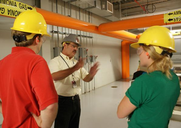 Tour of the central heating plant