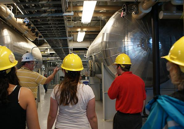 Tour of the UMass heating plant